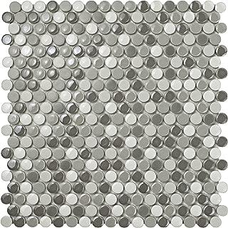 SomerTile WSHGPRLU Ursa Penny Round Luna Porcelain Wall Tile, 11.25