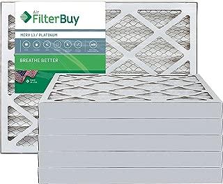 FilterBuy 28x30x2 MERV 13 Pleated AC Furnace Air Filter, (Pack of 6 Filters), 28x30x2 – Platinum