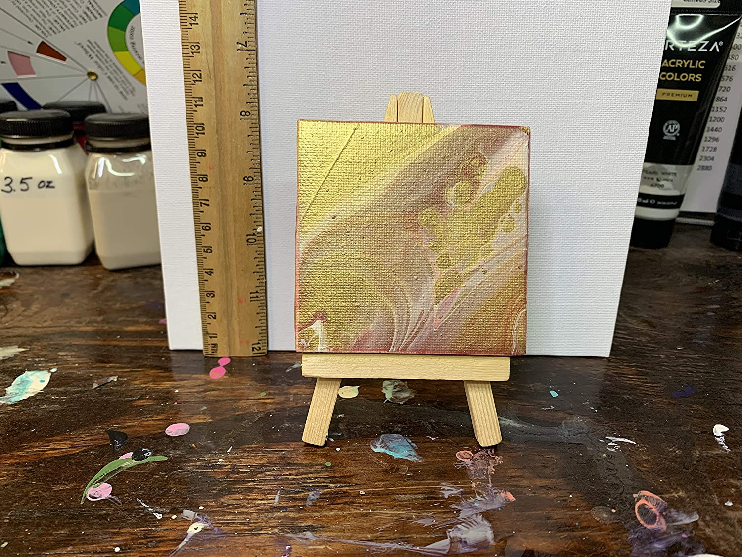 3 x mini easel canvas Fashion with 2021 new
