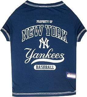 Pets First New York Yankees T-Shirt, Medium, Blue