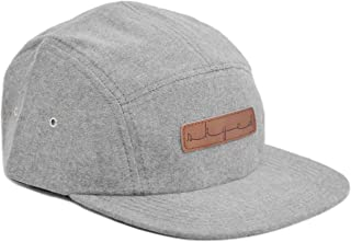 Premium 5 Panel Hat with Genuine Leather Strap (Multiple Colors)