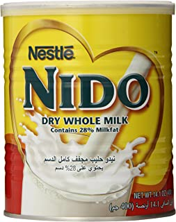 Nestle Nido Milk Powder, Imported, (400 gm), 14.1-Ounce Cans (Pack of 3)
