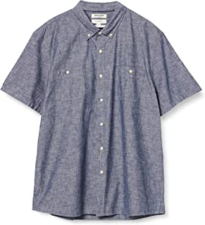Marque Amazon - Goodthreads Slim-fit Short-sleeve Chambray Shirt - button-down-shirts - Homme