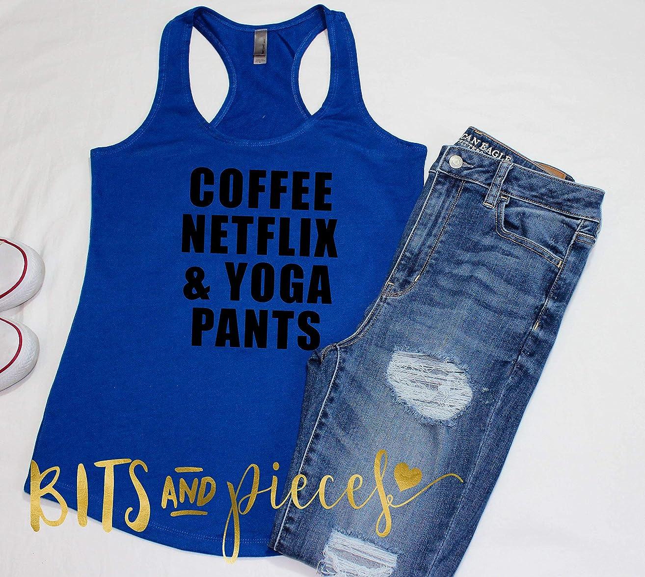 Coffee, Netflix, Yoga Pants   Women's   workout   tank top   t-shirt