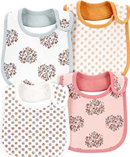 Carter's Baby Girls' 4-Pack Teething Bibs