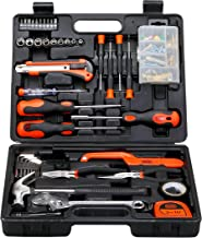 Black+Decker 126 Pieces Hand Tool Kit in Kitbox for Home DIY & Professional Use, Orange/Black - BMT126C, 2 Years Warranty
