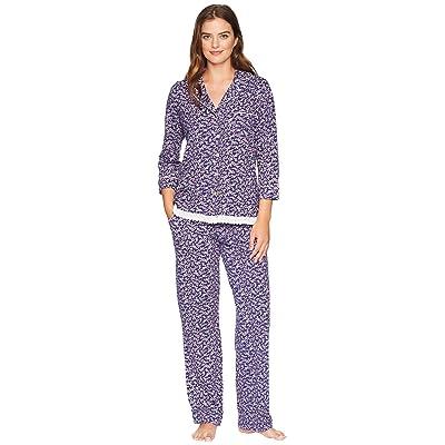 Carole Hochman Long Pajama Set (Cherry Ditsy) Women