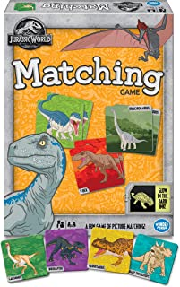Wonder Forge Jurassic World Matching for Boys & Girls Age 3 to 5 - A Fun & Fast Dinosaur Memory Game You Can Play Over & Over Game