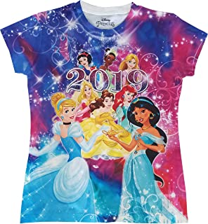 6ae6e76c7 Disney Youth Girls 2019 Dated Princess Sublimated Top Large Multicolor Tee