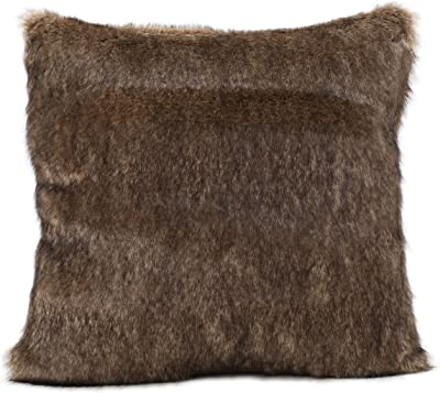 Christopher Knight Home Elise Fabric Pollow with Polyester Fiber Fill, Dark Brown