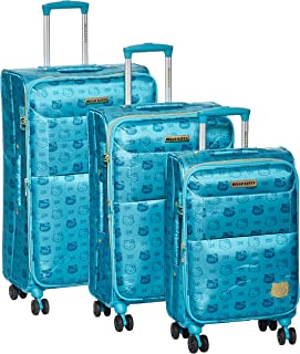Hello kitty Luggage Trolley Bags Set 3 pcs 54-10691-light blue