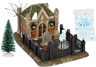 Department 56 Dicken's Village Christmas Carol Cemetery Lit Scene and Accessories, 9.75