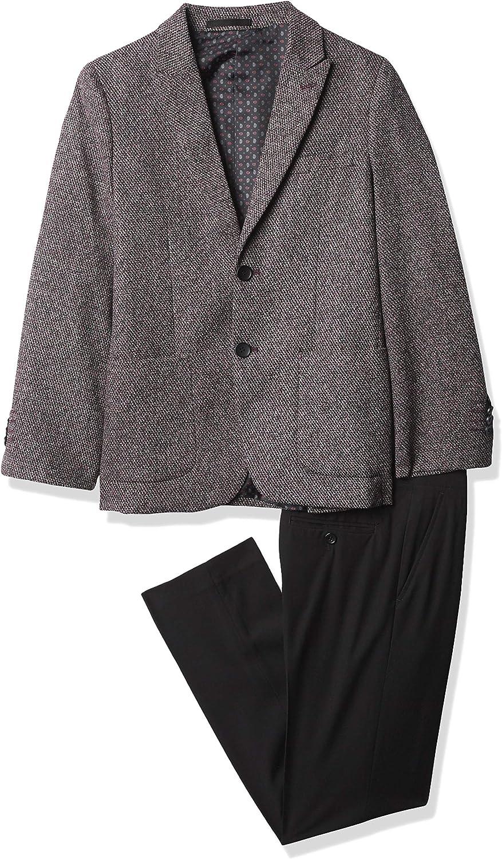 Isaac Mizrahi Boys' Miami Mall Slim Tweed 2-Piece Oakland Mall Suit Fit