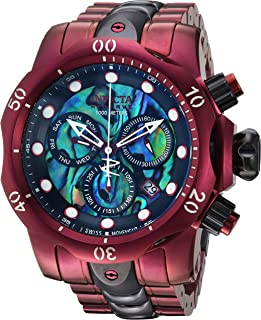 Men's Reserve Quartz Watch with Stainless-Steel Strap, Purple, 26 (Model: 25917)