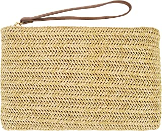 AGNETA Women's Hand Wrist Type Straw Clutch Summer Beach Sea Handbag
