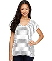 TWO by Vince Camuto - Directional Nautical Stripe V-Neck Top