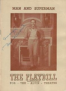 "Maurice Evans (Signed)""MAN and SUPERMAN"" Bernard Shaw 1948 Broadway Playbill"
