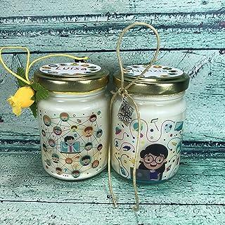 Grazie Maestra o Maestro Didattica a distanza DAD 2 vasetti con candele di cera di soia e oli essenziali - Regalo per la M...