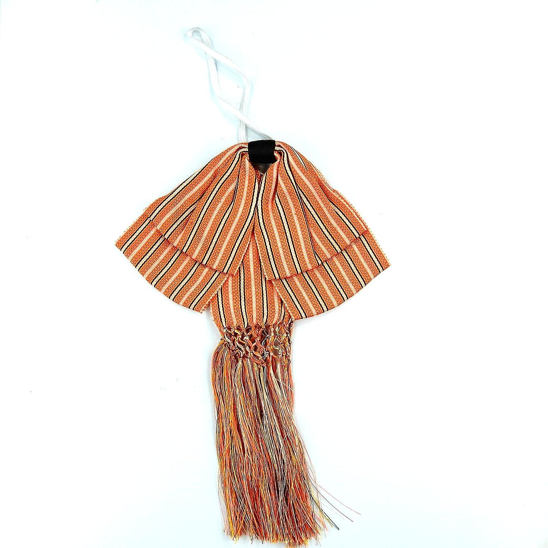 Mexican Charro Bow Tie orange stripe elastic band