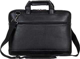 "Kenneth Cole Reaction ProTec Pebbled Vegan Leather Slim 16"" Laptop & Tablet Business Briefcase Bag"