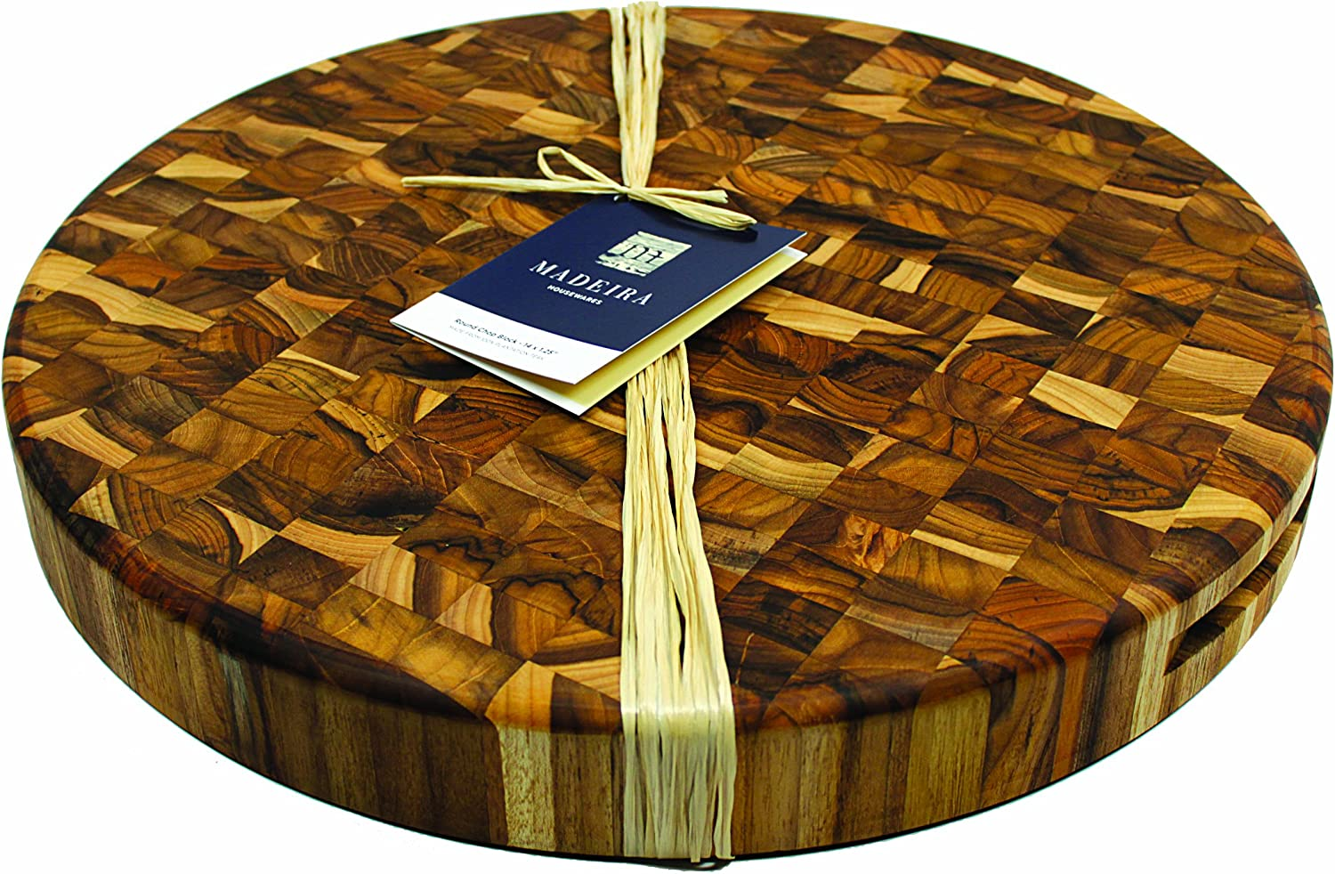 Madeira 1036 Canary Teak End-Grain Round Chop, Extra-Large