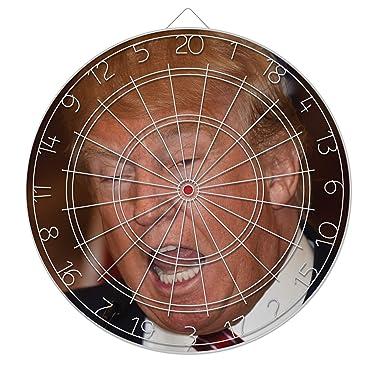 PhotoDarts - Donald Trump Dartboard with Six Included Metal Darts
