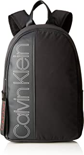 Jeans - Double Logo Round Backpack, Mochilas Hombre, Negro (Black), 20x45x33 cm (B x H T)