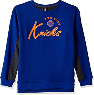 Outerstuff NBA NBA Juniors New York Knicks in The Mix Long Sleeve Crew Top, Blue, Medium(7-9)
