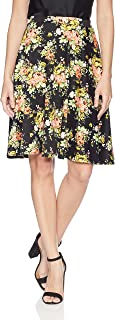 Women's Knee Length Full Skater Skirt