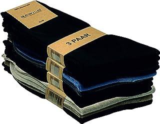 GAWILO Lot de 12 paires de chaussettes en coton naturel - Femme et Homme - 100% pur coton - Sans couture