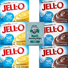 Jello Sugar Free Pudding Mix Combo. Vanilla and Chocolate Instant Pudding Mixes. Convenient One-Stop Shopping For 2 Popular Jell O Pudding Mixes. Sugarfree Heaven! Also: Chef Paul Seasoning Mix.