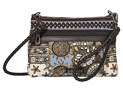 Sakroots Artist Circle Campus Mini (Black Desert Patch) Cross Body Handbags