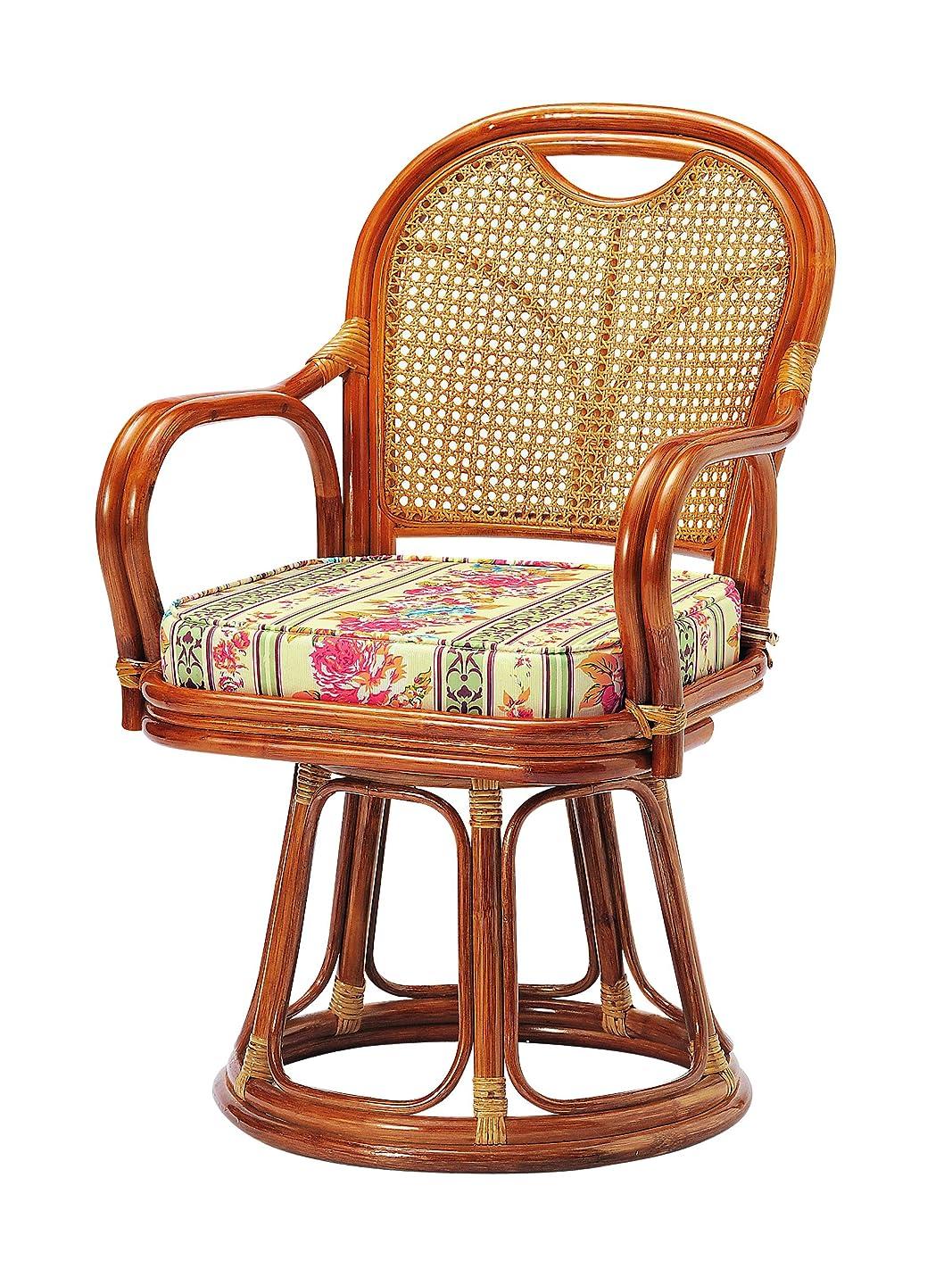不名誉入植者投資koeki ラタン回転椅子 ハイタイプ(座面高:44cm) R-440S