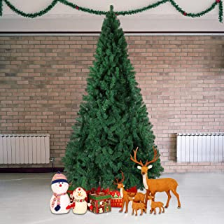 Livebest 10ft Artificial PVC Christmas Tree with 2150 Tips Gorgeous Faux-Pine Xmas Tree (Green, 10ft)