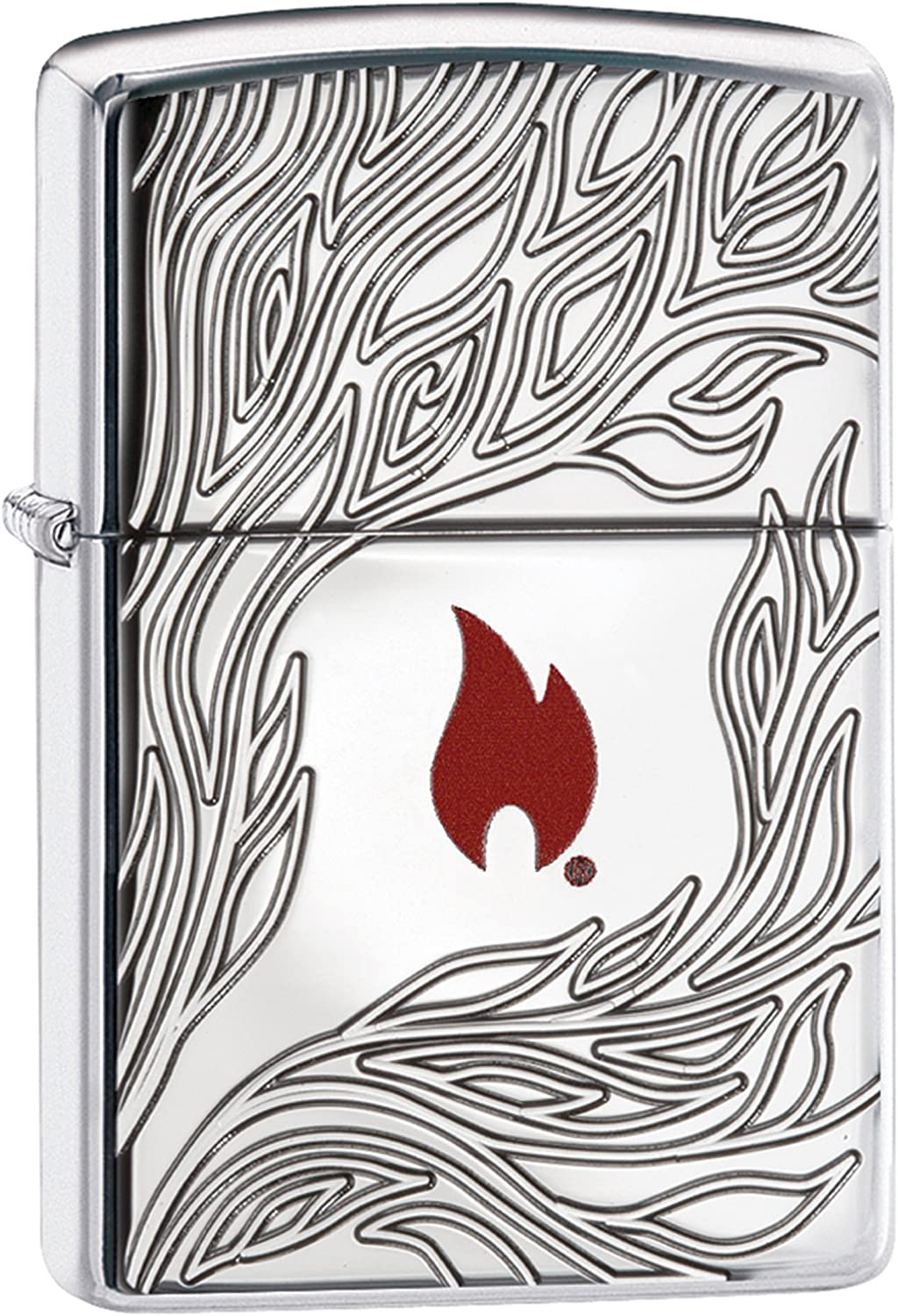 Zippo Flame Design-Armor Case High Polished-Deep Carve Carve Carve with rot Logo Collection 2018 Sturmfeuerzeug, Chrom, Silber 6 x 4 x 2 cm B075S5F7LR 3a8544