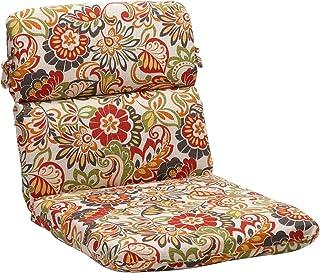 "Pillow Perfect Outdoor/Indoor Zoe Citrus Round Corner Chair Cushion, 40.5"" x 21"", Green"