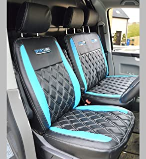 New Holland Tractor Driver /& Side Tailored Seat Covers Black /& Blue With Logo