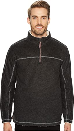 Melange and Sherpa 1/4 Zip Pullover
