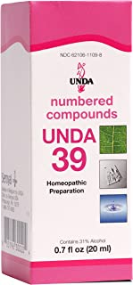 UNDA - UNDA 39 Numbered Compounds - Homeopathic Preparation - 0.7 fl oz (20 ml)