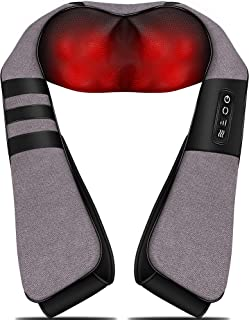 Sponsored Ad - Massagers for Neck and Back Pain Relief,Shiatsu Shoulder Massager with Heat,Electric Cervical Massage Pillo...