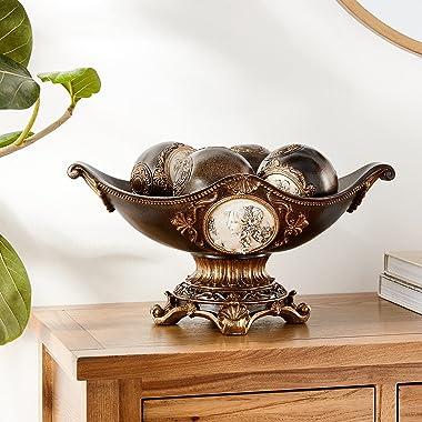 "OK Lighting Grecian Decorative Fruit Bowl, 8.0"""