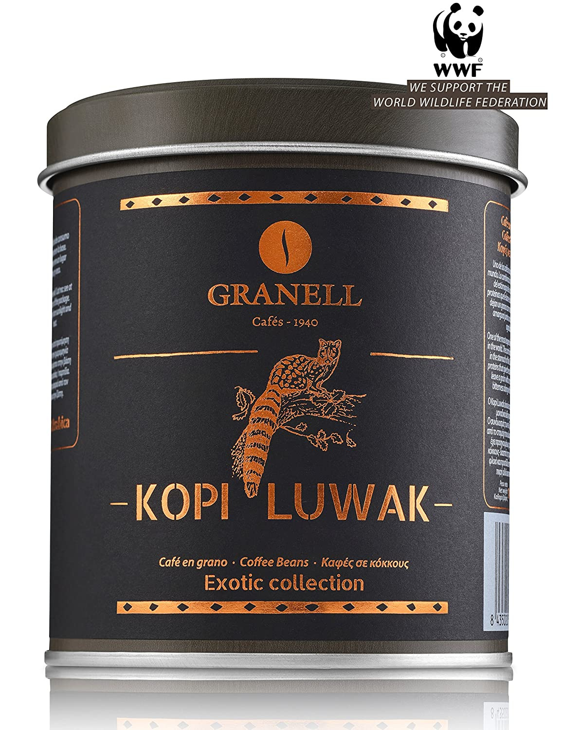 Cafés Granell Wild NEW before selling ☆ Kopi Luwak 100grams 3 Coffee Beans Indefinitely Whole