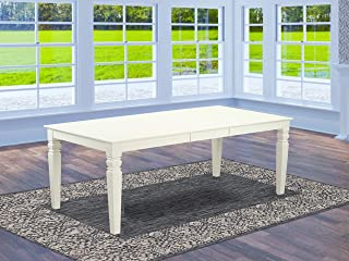 East West Furniture Logan Dining Table In Linen White Finish