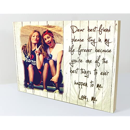 CSPRINTS Personalised Plaque With Photo Best Friends Friendship Quote Suitable For Birthday Christmas Any Occasion