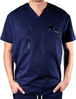 Krafted Cut Cincy Premium 4-Pocket Slim Fit Men's Scrub Shirt