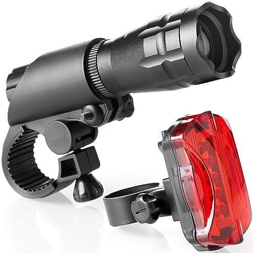 d4fe9e32 TeamObsidian Bike Light Set - Super Bright LED Lights for Your Bicycle -  Easy to Mount