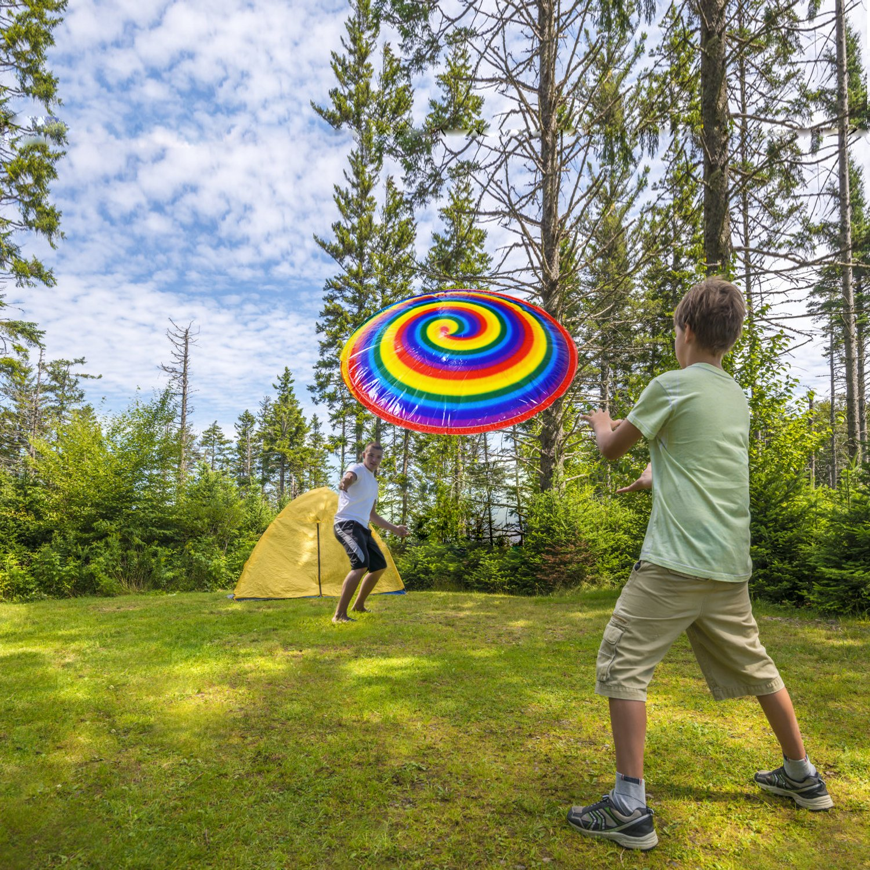 Hover HyperDisc UFO Air Tweak Rainbow Print Ni/ños Ni/ños Al aire libre Juguetes grandes Seguridad Popular Juguetes para ni/ños Regalos ForeverMagic Toys