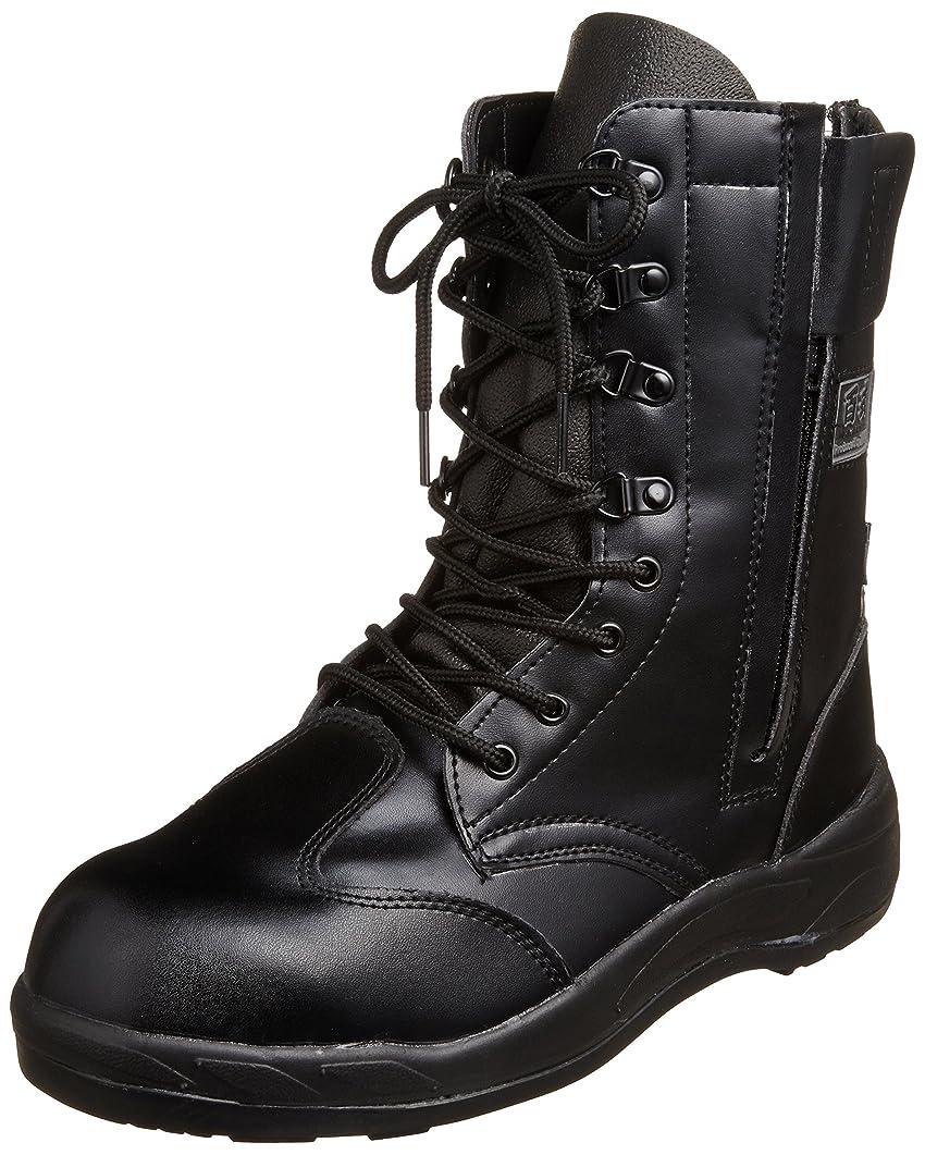 定期的なルール保護するブーツ ZIPLOA 長編みファスナー付きブーツ JSAA規格 先芯入り 耐油底 メンズ HZ-703