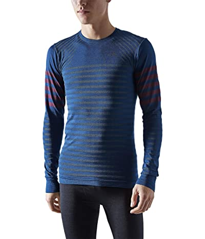 Craft Fuseknit Comfort Blocked Round Neck Long Sleeve (Beat/Peak) Men