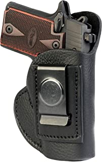 1791 GunLeather SIG P238 & P938 Premium Leather IWB CCW Holster - Super Soft & Comfortable Right Handed Leather Gun Holster - Fits Sig Sauer P238, Sig Sauer P938